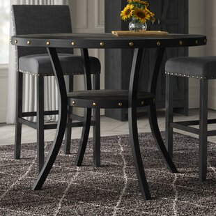 Crooke Round Wood Counter Height Dining Table Best Design