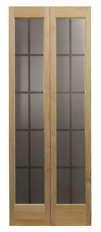 Glass Bifold Doors ltl bi-fold doors bi-fold interior door & reviews | wayfair