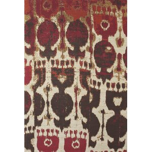 Joshawn Hand-Loomed Red/Brown Area Rug