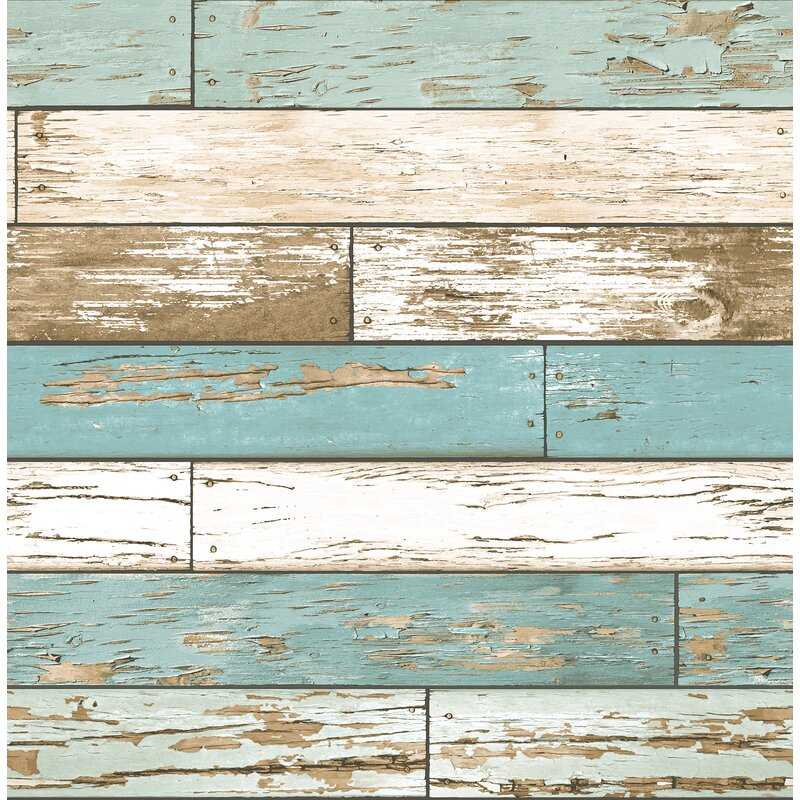 """Brewster Home Fashions Scrap Weathered 2' x 20.5"""" Wallpaper"""