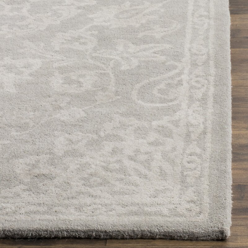 Birch Lane Wool Gray Silver Area Rug Amp Reviews Wayfair Ca