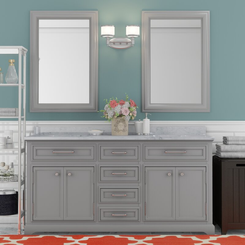 double sink bathroom vanity. Colchester 60  Double Sink Bathroom Vanity Set Darby Home Co