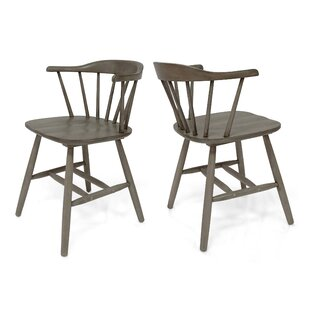 Doiron Solid Wood Dining Chair (Set of 2)
