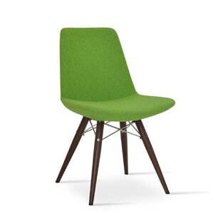 Eiffel MW Genuine Leather Upholstered Dining Chair in Turquoise Camira Wool by sohoConcept