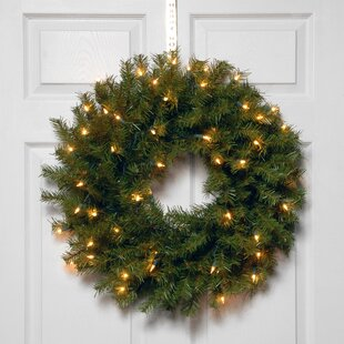 Lighted Pine Wreath. by The Holiday Aisle