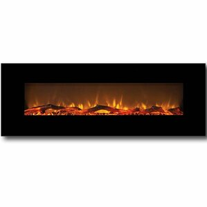 Oakland Log Linear Wall Mount Electric Firep..