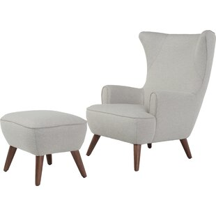 Attirant Ruby High Back Wingback Chair And Ottoman