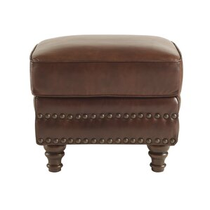 Franciscan Leather Ottoman by Canora Grey