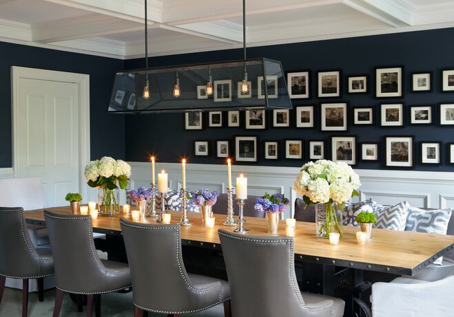 Gallery wall dining room
