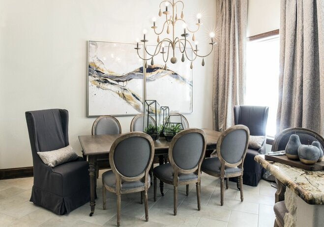 artwork dining room - How To Decorate A Large Wall