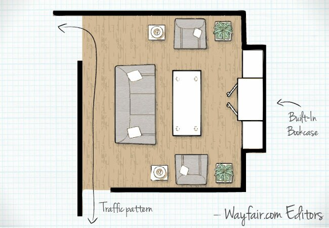 Living room layouts wayfair for 10 x 14 living room arrangement