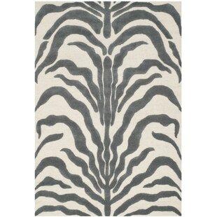 Nahla Hand-Tufted Grey/Ivory Area Rug by Safavieh