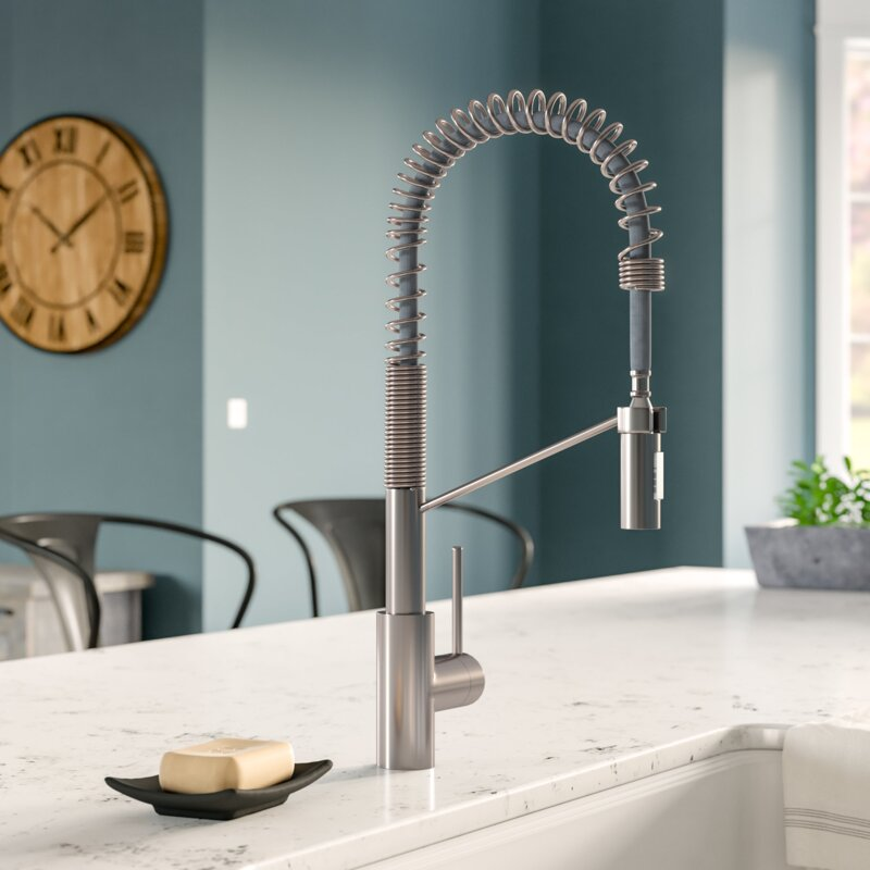Attrayant Oletto Commercial Pull Down Single Handle Kitchen Faucet With QuickDock