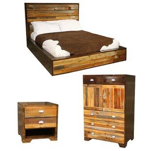 Urban rustic furniture Tumblr Urban Rustic Platform Configurable Bedroom Set Interconfurniture Urban Rustic Furniture Wayfair