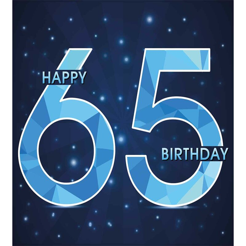 65th Birthday Decorations Duvet Cover Set