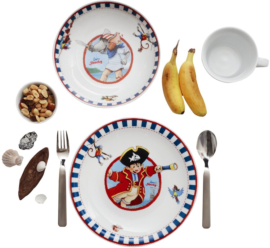 Kids 3 Piece Porcelain Children\u0027s Dinnerware Set  sc 1 st  Wayfair & Kahla Kids 3 Piece Porcelain Children\u0027s Dinnerware Set \u0026 Reviews ...