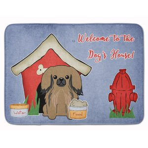 Dog House Pekingese Memory Foam Bath Rug
