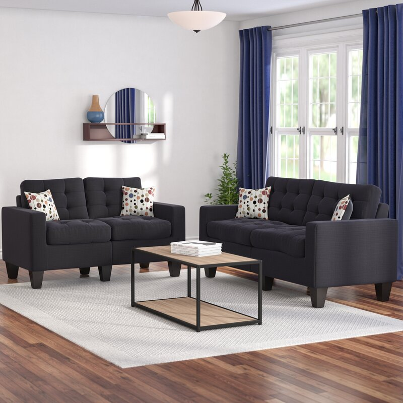 Zipcode Design Amia 2 Piece Living Room Set  Reviews  Wayfair.ca