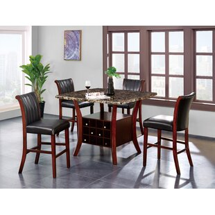 Bathild 5 Piece Pub Table Set
