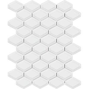 Sail Ceramic/Porcelain Mosaic Tile in Glossy White