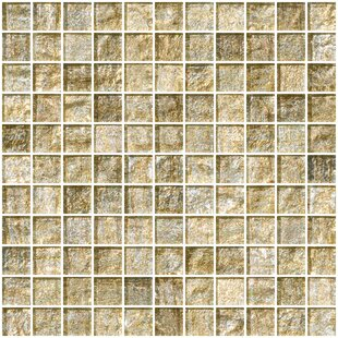 1 X Gl Mosaic Tile In Gold And Silver