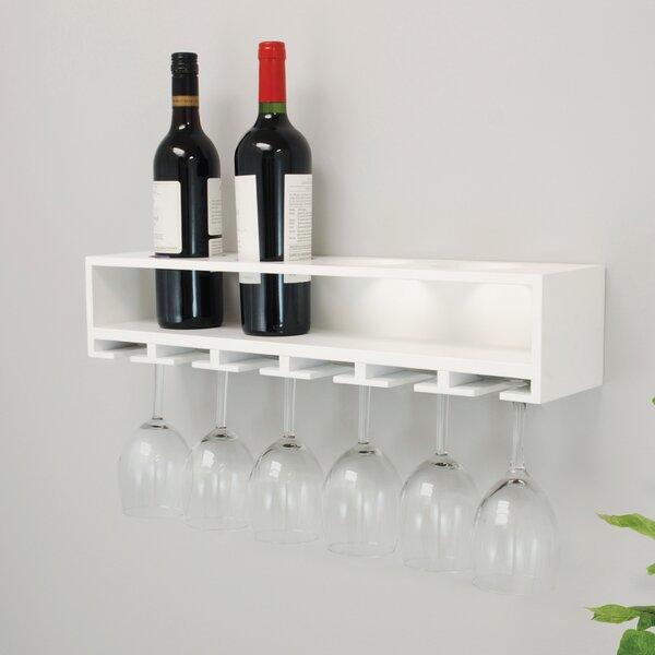 nexxt design claret wall mounted wine bottle rack reviews wayfair rh wayfair com wall mounted wine glass storage