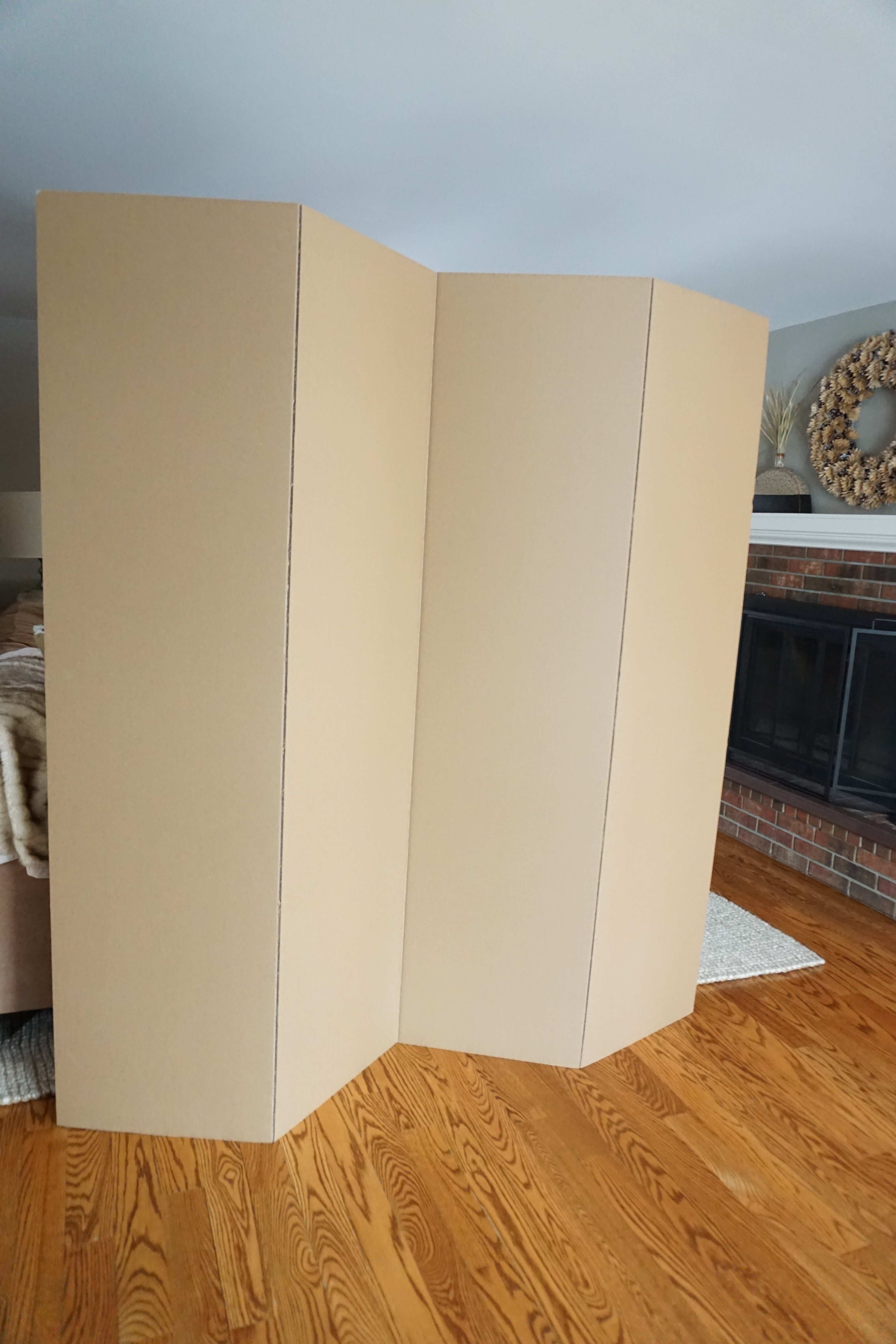 Symple Stuff Privacy Cardboard 4 Panel Room Divider Reviews Wayfair
