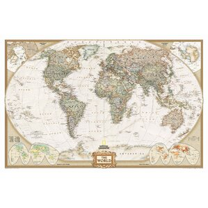 Magnetic world map wayfair world executive wall map sciox Gallery