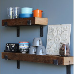 reclaimed wood mug rack urban rustic. Chumbley Made Chunky Reclaimed Barn Wood 2 Piece Wall Shelf Set Mug Rack Urban Rustic