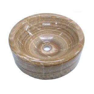 Barrel Onyx Polished Circular Vessel Bathroom Sink
