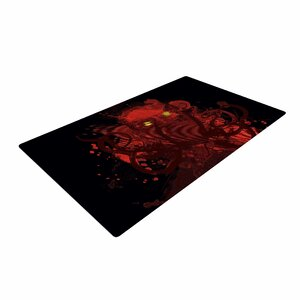 Frederic Levy-Hadida Miskatoninked Red/Black Area Rug