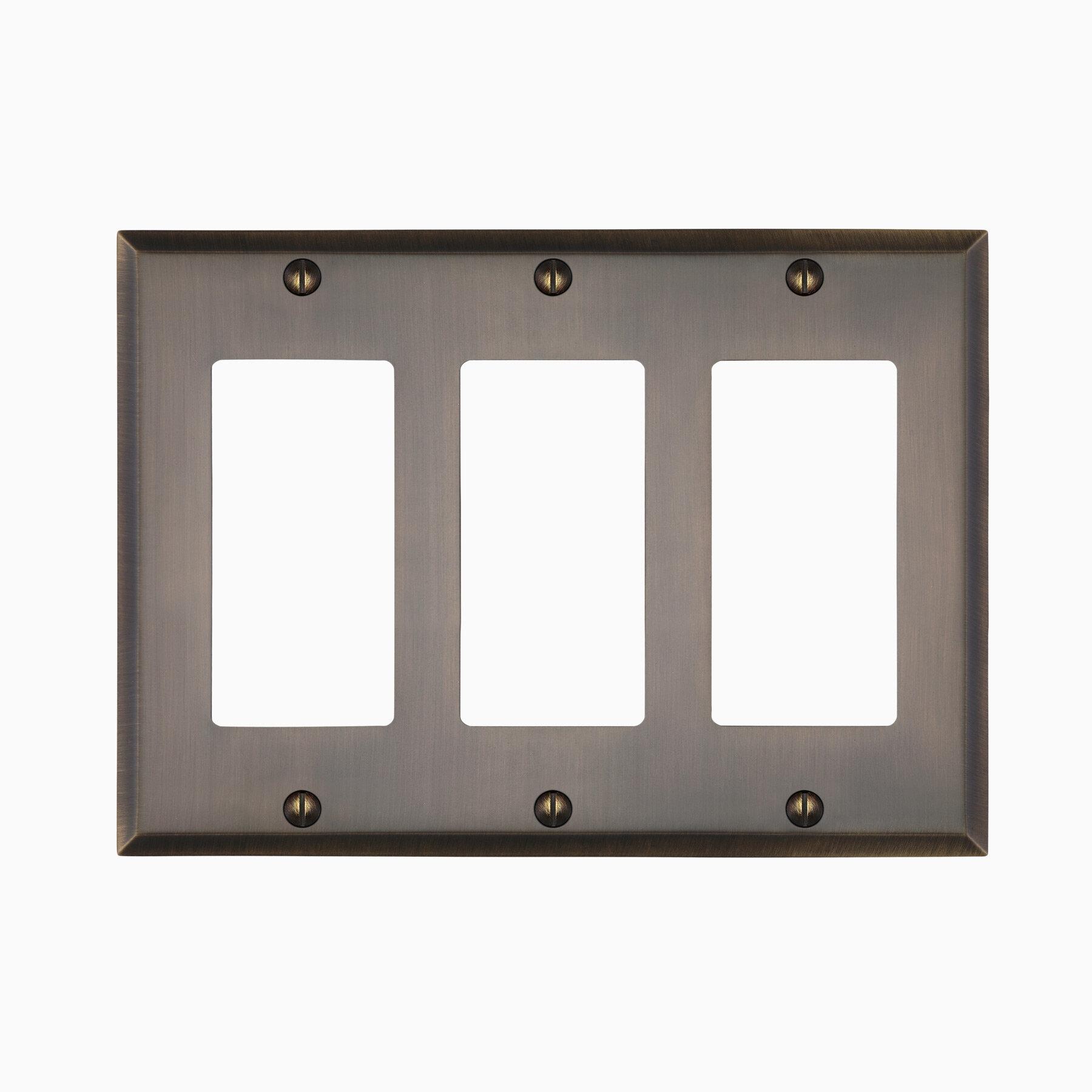 Maykke Graham Triple Rocker Light Switch Cover Wayfair
