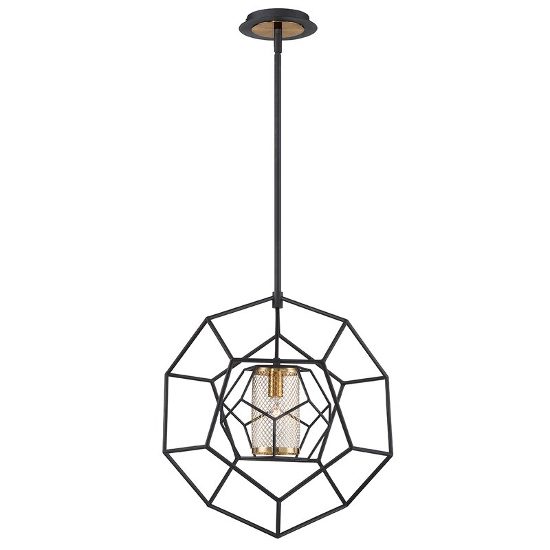 Ivy Bronx Luker Caged 1 Light Pendant