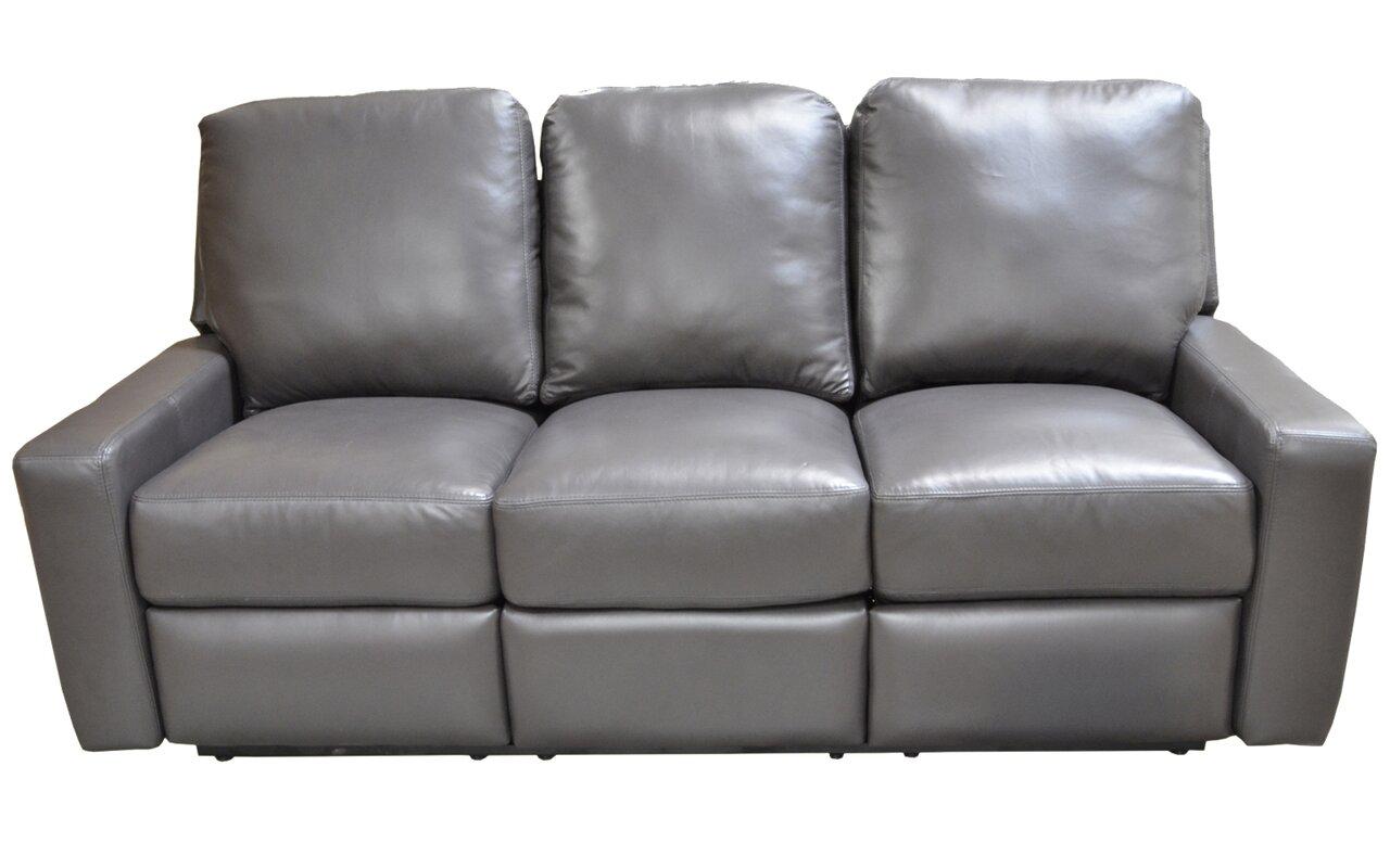 Mirage Leather Reclining Sofa  sc 1 st  Wayfair & Omnia Leather Mirage Leather Reclining Sofa u0026 Reviews | Wayfair islam-shia.org