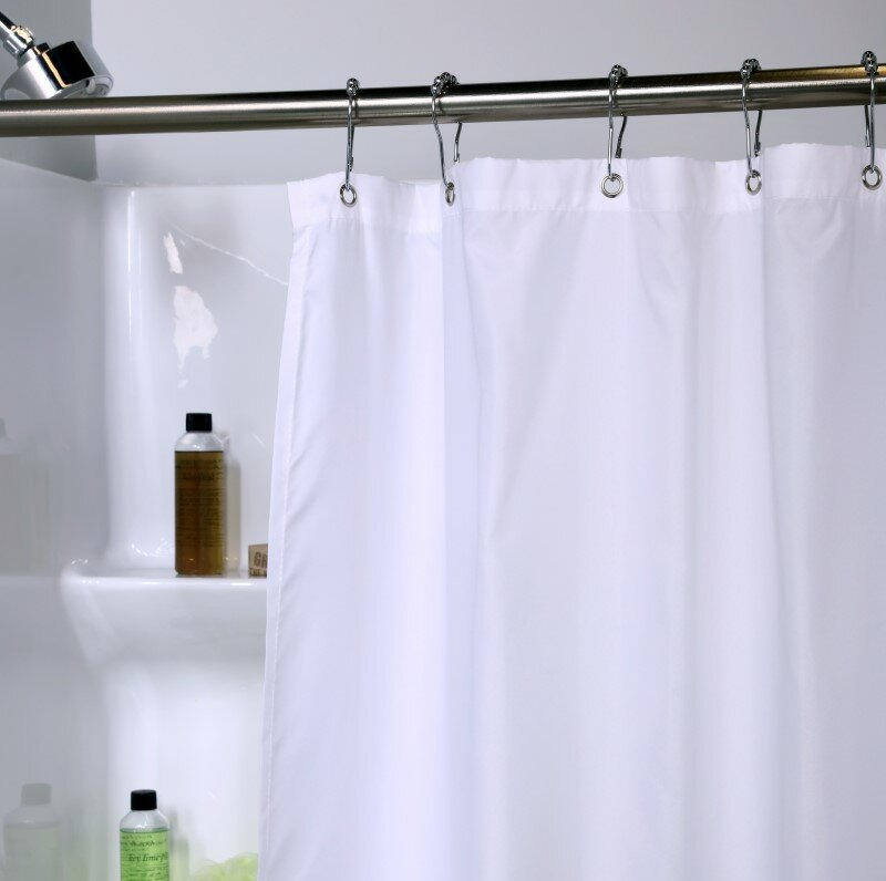 Symple Stuff Microfiber Fabric Shower Curtain Liner with Microban ...