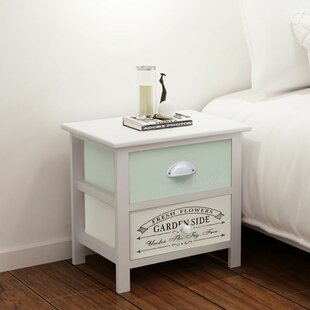 Simsbury French 2 Drawer Bedside Table Set Of