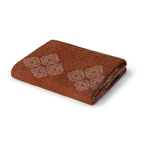 moroccan geometric woven polyester twisted blanket