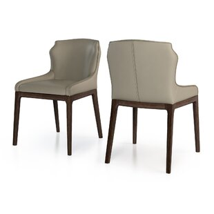 Howe Genuine Leather Upholstered Dining Chair (Set of 2)