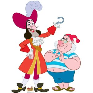 Captain Hook and Mr. Smee / Disney Jake and Neverland Pirates Cardboard Standup