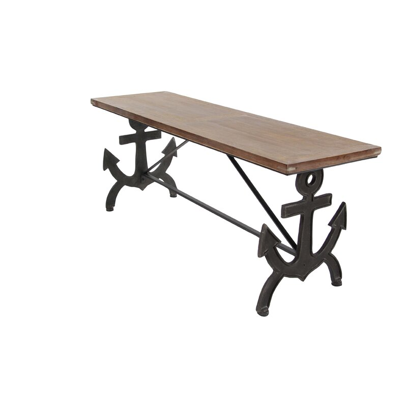Cole Grey Metal Wood Anchor Bench Wayfair - Picnic table anchors
