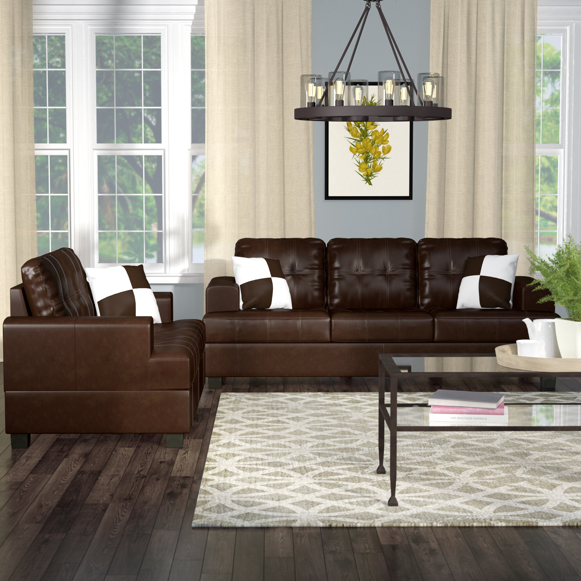 T Austin Design Wamsutter 5 Piece Living Room Set Reviews Wayfair