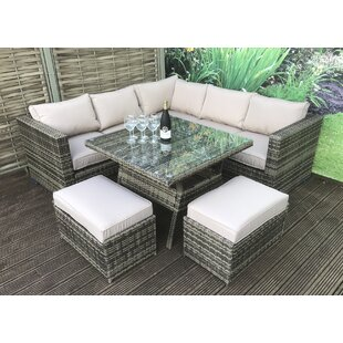 curved rattan sofa wayfair co uk