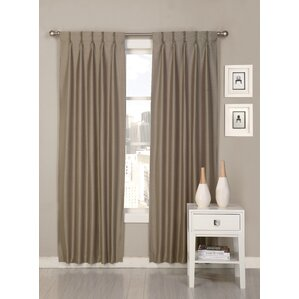 palace solid semisheer pinch pleat curtain panels set of 2