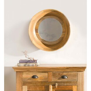 04c4a1172f1 Titsworth Mango Round Wood Accent Mirror