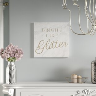Glitter Canvas Art Wayfair