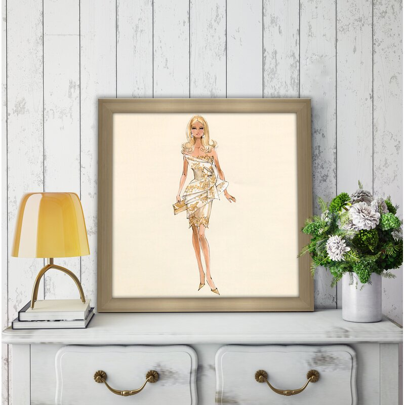 pictureperfectinternational glimmer barbie by robert best framed