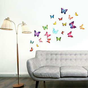 Butterflies 28 Wall Decal & Wall Decals Youu0027ll Love | Wayfair