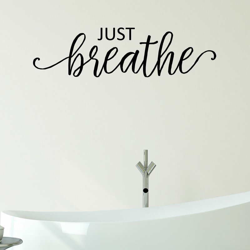 Just breathe vinyl wall decal