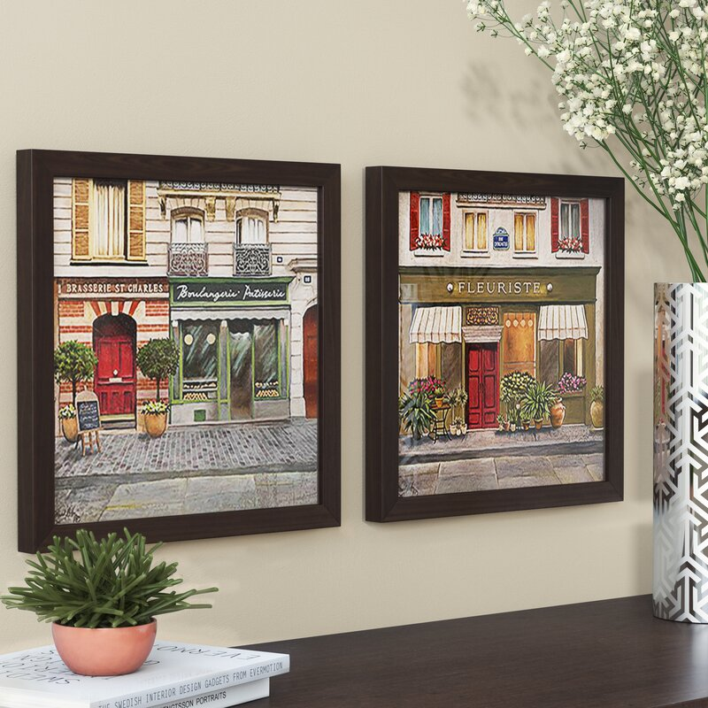Ophelia & Co. French Store II\' 2 Piece Framed Acrylic Painting Print ...