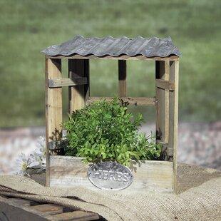Indoor herb garden planters wayfair hendrick herb garden wood planter box set of 2 workwithnaturefo